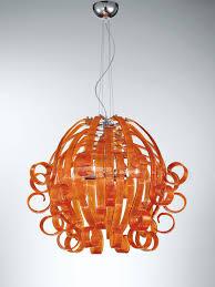 Orange Pendant Light Ricciolo Pendant Light In Murano Glass Idd