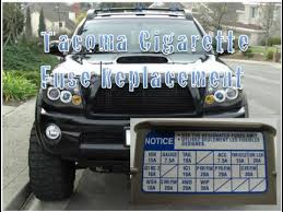 2005 toyota tacoma fuse box toyota tacoma cigarette fuse replacement year 2004 2009