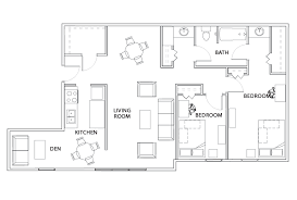 2 bedroom 1 bath floor plans floor plans willowtree apartments and tower housing
