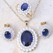blue zircon jewelry necklace images New arrival fancy royal blue zircon crystal gold colour ring jpg