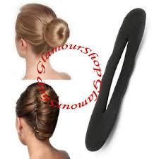 bun holder large black padded foam style magic twist bun holder maker