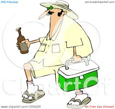 beer cartoon cartoon of a panama joe man carrying a cooler and beer royalty
