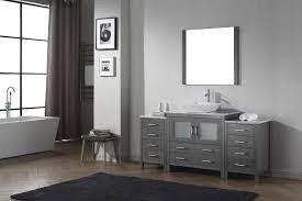 Virtu USA Dior  Single Bathroom Vanity Cabinet Set In Zebra - Bathroom vanity counter top 2