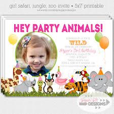 safari theme invitation free printable invitation design