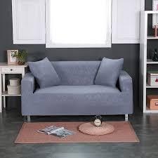 sofa hussen stretch grau präge einfarbig universal stretch möbel abdeckungen für