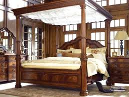 Wood Canopy Bed Wood Bed Frame Happyhippy Co