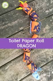 toilet paper roll dragon green kid crafts
