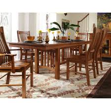 liberty furniture tahoe trestle dining table hayneedle