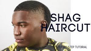 shag haircuts showing back of head barber tutorial taper shag haircut youtube