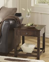 marion dark brown t477 cocktail table and 2 end tables