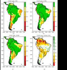 South America Climate Map by Surrogate Climate Change Scenario And Projections With A Regional