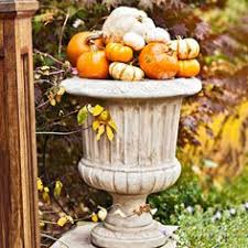 Fall Harvest Outdoor Decorating Ideas - how to decorate a yard for a fall festival fall pumpkins