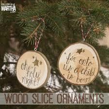 wood slice ornaments becoming martha