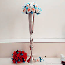 Tall Metal Vases For Wedding Centerpieces by Cm High New Gold Wedding Floor Walkway Stands Tall And Large