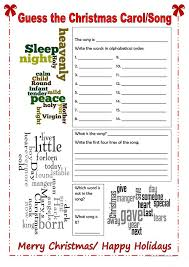 guess the christmas song worksheet free worksheets library