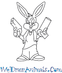 draw gangster bugs bunny looney tunes