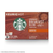 starbucks breakfast blend medium roast single cup coffee for