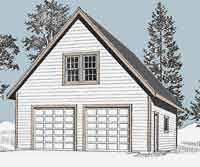 Garage With Loft Garage Plans Two Car Garage With Loft Plan 1476 3 Amazon Com