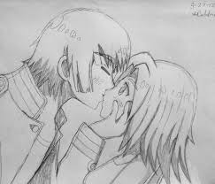 birthday kiss sketch by pikachupanda on deviantart