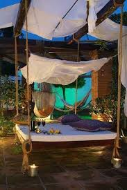outdoor floating bed 19 relaxing suspended outdoor beds that will transform your summer