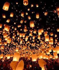 firework lantern rise lantern festival lights up the las vegas sky for the time