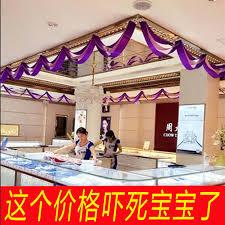 store decorative ceiling wavy flag ribbon festival ornaments