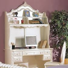 White Wood Computer Desk Acme 01017 Pearl White Wood Kids Desk With Hutch
