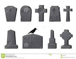 halloween headstones gravestones stock photography image 9485702