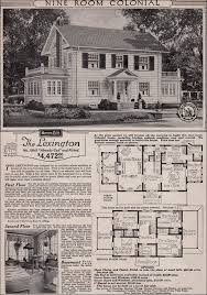 colonial revival house plans colonial revival 1923 sears kit house classic side gable with