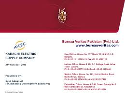 bureau veritas pakistan presentation for kesc