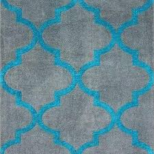 rugs turquoise and white geometric rug