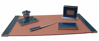 american art deco silvercrest desk set modernism