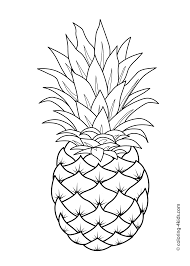 pineapple coloring page pineapple fruits coloring pages for kids
