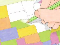 4 Corner States Map by How To Draw A Map Of The Usa 9 Steps With Pictures Wikihow