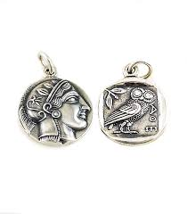 silver coin pendant necklace images Greek jewelry shop pendants and necklaces athena alexander jpg