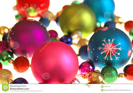 collection of colorful christmas tree ornaments all can download