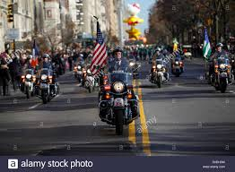 thanksgiving picture search new york police department motorcycle officers lead macy u0027s stock