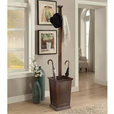 overstock com home decor briarwood home decor wood coat rack with umbrella stand free