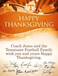 happy thanksgiving volnation of tennessee athletics