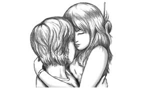 easy sketches with pencil of kissing in hd drawing of sketch
