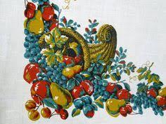 vintage easter tablecloth printed pastel by vintagelinens
