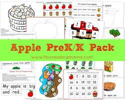 free apple prek k printable worksheet pack free homeschool deals