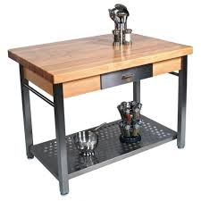 stainless steel kitchen island with butcher block top u2022 kitchen island