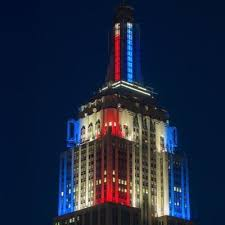 empire state building lights tonight empire state colors esbcolor twitter