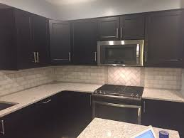 Marble Subway Tile Kitchen Backsplash 3 X 6 Marble Subway Tile Backsplash Ikea Laxarby Cabinets Quartz