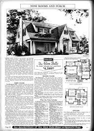 dutch colonial home plans sears catalogue home the glen falls american vernacular