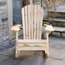 Garden Rocking Chair Uk Trueshopping Bowland Adirondack Wooden Rocking Chair For Garden Or