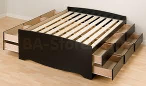 Diy Platform Bed Plans Queen Bed Frame With Drawers Plans Ktactical Decoration