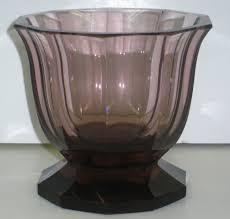 Footed Glass Vase Antiques Art Vintage