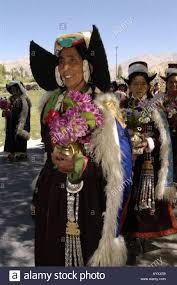 ladakh clothing women in traditional dress leh stock photos women in traditional